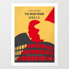 No572 My Man from UNCLE minimal movie poster Art Print
