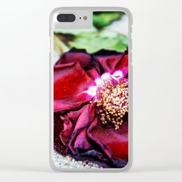 Wilted Rose Clear iPhone Case