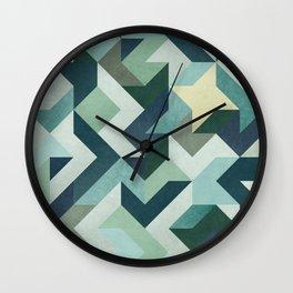 circle geometry (Black Background) Wall Clock