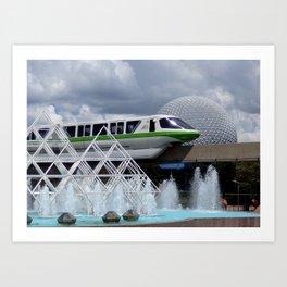 EPCOT: Monorail Art Print