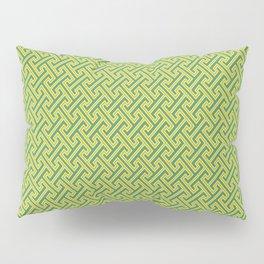 Green Ko-Ji Tsunagi Japanese Kimono Pattern Pillow Sham