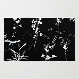 Plants & Paper clips Photogram Rug