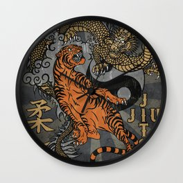 Jiu Jitsu Tiger and Dragon Art, Yin Yang, Martial Arts, Bjj Mma, Japanese Wall Clock