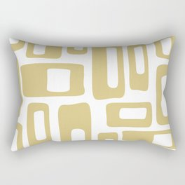 Retro Mid Century Modern Abstract Pattern 336 Gold Rectangular Pillow