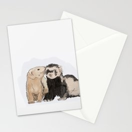 Ferret Kisses Stationery Cards