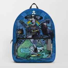 """Ars Tarot of the 12 Zodiac: """"Pisces - The Moon"""" Backpack"""