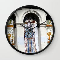 religion Wall Clocks featuring religion by Hannah