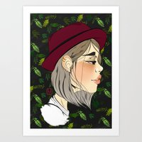 neutral milk hotel Art Prints featuring Neutral by hannamitchell