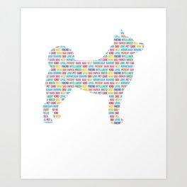 Norwegian Buhund Shirt Dog Words Tshirt Gift for Dog Lover T-Shirt Art Print