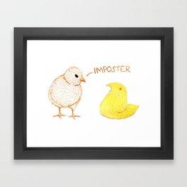 Peep Imposter Framed Art Print