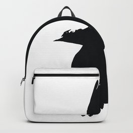 Jackdaw In Flight Silhouette Backpack