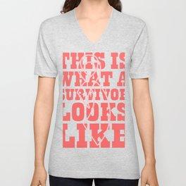 Look Like A Survivor Gifts For Cancer Patients Unisex V-Neck