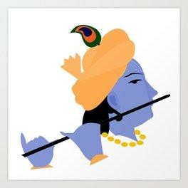 Lord Krishna Art Art Print