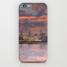 Liverpool Skyline At Sunset iPhone Case