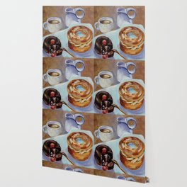 Desert, french breakfast, bonbon, coffee, sweet, food Wallpaper