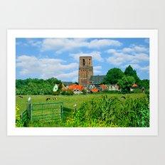 View of Ransdorp, Art Print