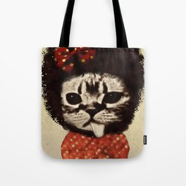 Cat (Pack-a-cat) Tote Bag