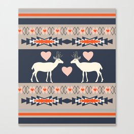Romantic deer Canvas Print