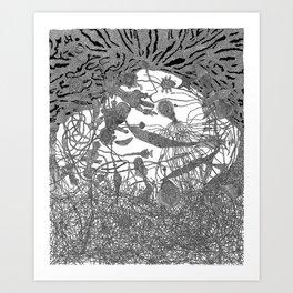 Story of Deep Area Art Print