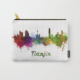 Tianjin skyline in watercolor Carry-All Pouch