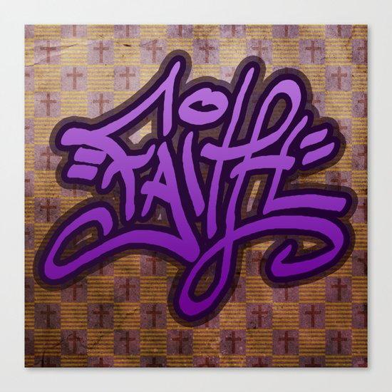Faith (Graffiti) Canvas Print