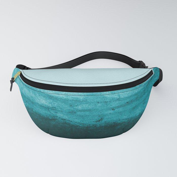 Aqua Watercolor Tide Fanny Pack