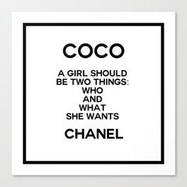 coco quote no. 5 Canvas Print