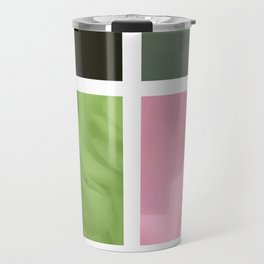 Pink Roses in Anzures 3 Abstract Rectangles 1 Travel Mug