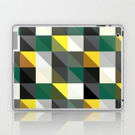 Forest Green, Dark Gray, Triangular  low poly, mosaic pattern background, Vector polygonal illustrat Laptop & iPad Skin