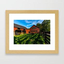 Jeep, Tractor & Barn Framed Art Print