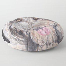 Golden Doodle Art,  Labradoodle art, Doodle dog art Floor Pillow
