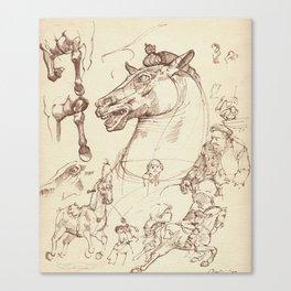 Leonardo Da Vinci, The Four Horses of Apollo Canvas Print