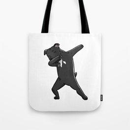Funny Dabbing Staffordshire Bull Terrier Dog Dab Dance Tote Bag