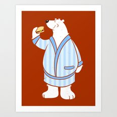 Burger Bear Art Print