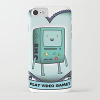 bmo iPhone & iPod Cases featuring BMO by Breathedeep