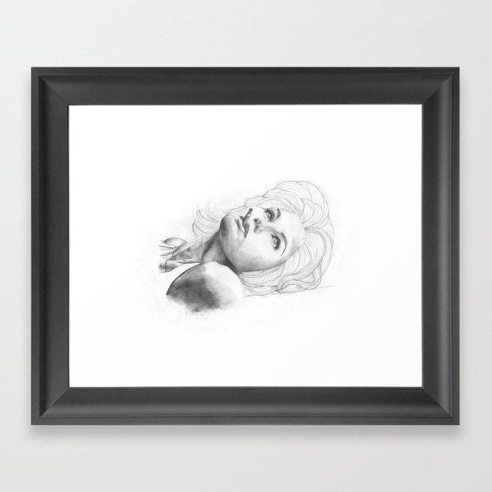 Smoking Beauty Framed Art Print