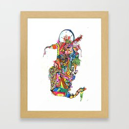 Slithering Framed Art Print