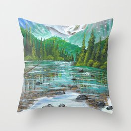 Shallow waters  Throw Pillow