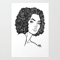 Curly Solonge Art Print