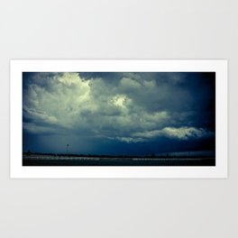 Chasing the storm Art Print
