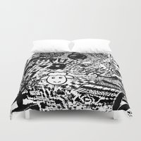 chaos Duvet Covers featuring Chaos by Cs025