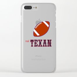 True Texan American Football Design black lettering Clear iPhone Case