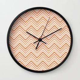 Citronique Series: Chevron Petit Sorbet Melon Wall Clock