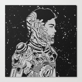 Space Nouveau Canvas Print