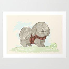 Moppy The Dog Art Print
