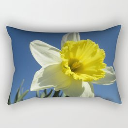 Daffodil Out of the Blue Rectangular Pillow