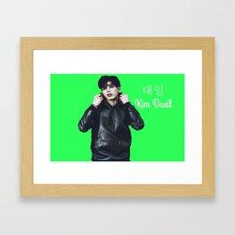 24K Kim Daeil Green Framed Art Print
