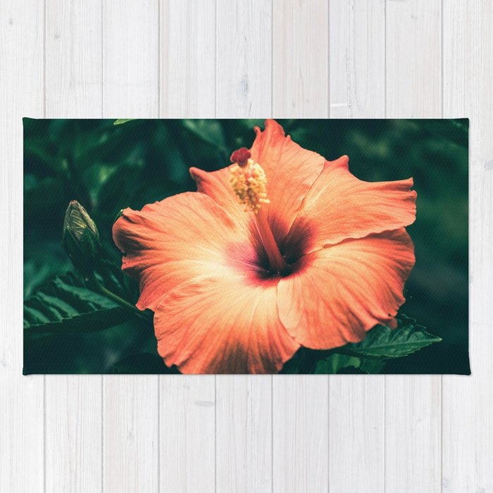 Hibiscus in the bloom Rug