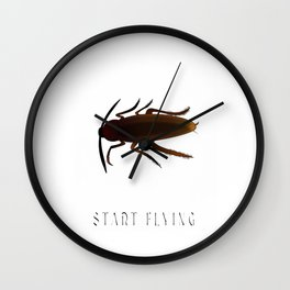 Everybody Gangsta Until Cockroaches Start Flying Insect Pest Roaches Wall Clock