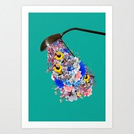 Light is needed to grow flowers Art Print